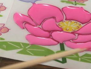 ガラス絵の具で塗る