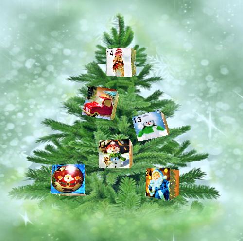 クリスマスツリーに飾り付け
