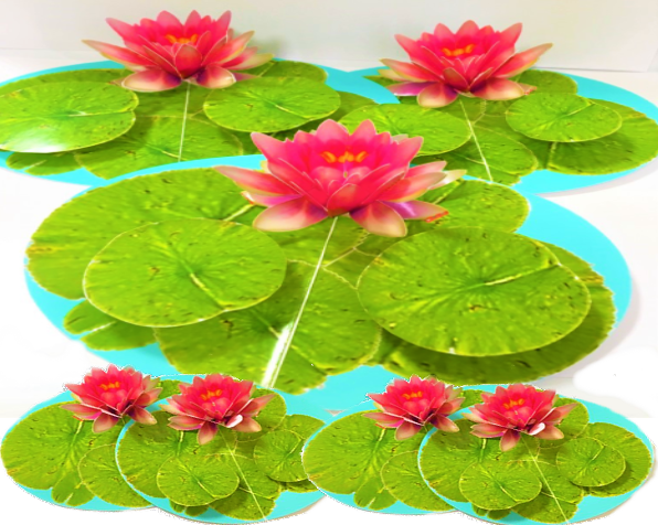 満開に咲く睡蓮のイメージ(手作り)