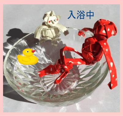 紙ストロー人形 アレンジ見本