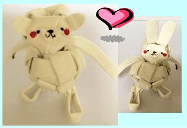 紙ストロー人形 アレンジ見本1