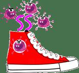 靴に細菌が大繁殖