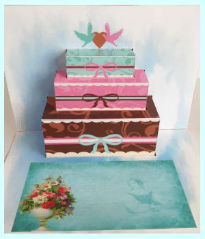 飛び出すカード 可愛いケーキその②