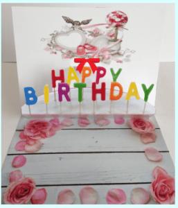 飛び出すカード 可愛い誕生日ケーキ3