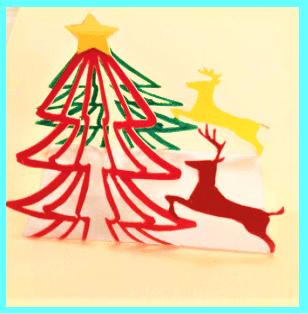 ポップアップカード クリスマス 見本2