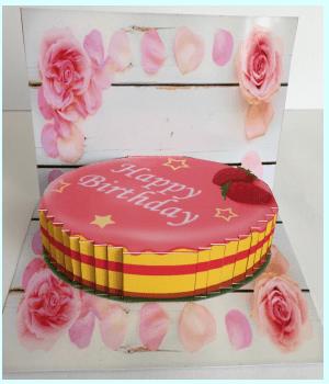 飛び出すカード 可愛い誕生日ケーキ2