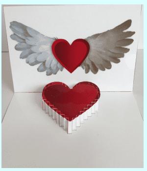 飛び出すカード ハートの作り方2