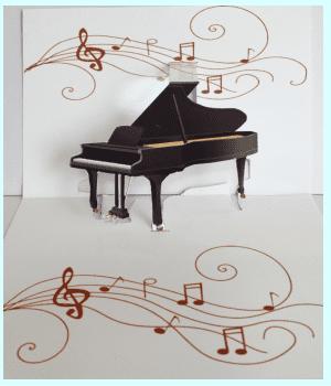飛び出すカード ピアノ