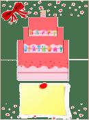 可愛い誕生日ケーキ③ 型紙みほん