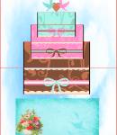 可愛いケーキ 型紙みほん