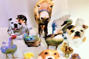 可愛い手作りの動物達